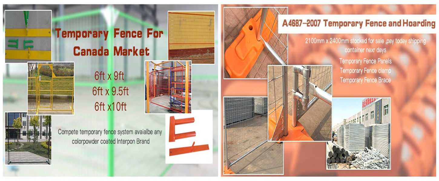 China best temporary chain link fence base on sales