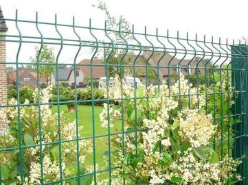 3D WIRE MESH FENCE PANELS, SOFT PVC COATED RAL 6005 MADE IN CHINA