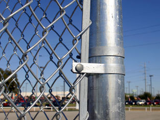 Construction Chain Link Fence, Chain Link Fence Top Barbed Wire