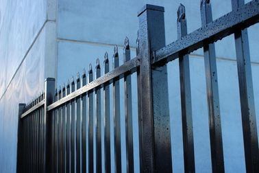 Made in China Australia style black zinc railing tubular steel fence for sale