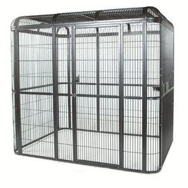 China outdoor welded mesh parrot/birds aviary house black powder coated big aviary cage for sale factory