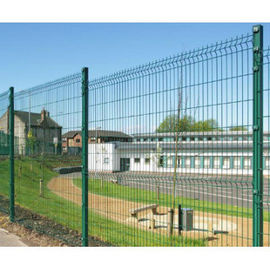 China PVC Coated Wire Mesh Fence Panels, 1230mm, 1530mm, 1830mm, 2030mm,2230mm with Curved /V beams Anti Climb Mesh Fence Pane factory