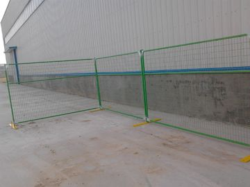 China Canda Standard Temporary Metal Fencing with PVC Coating factory