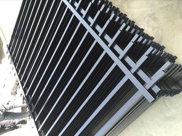 China 2400mm width  Crimped spear metal garrison fence supplier factory