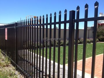 China 1800mm x 2400mm ,2100mm x 2400mm garrison tubular fencing ,steel high security Hercules fencing factory