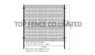 China 2230mm x 2500mm Wire Mesh Fence Panels Mesh Opening 50mm x 200mm available 3.00mm ,4.00mm ,5.00mm factory