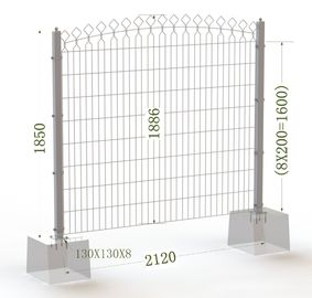 China Decorative Metal Arched Wire Mesh Fence,Decorative Powder Coated Arched Top Metal Fence factory