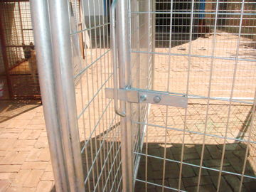 China dog kennel, cheap chain link dog kennels,Chain Link Portable Yard Kennel factory