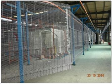 358 Anti climb clear vu fence panels hot dipped galvanized or powder coated