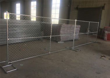 China 8ft x 12ft temporary chain link fence 12ga wire diameter chain mesh spacing 50mmx50mm hot dipped galvanized free stand factory