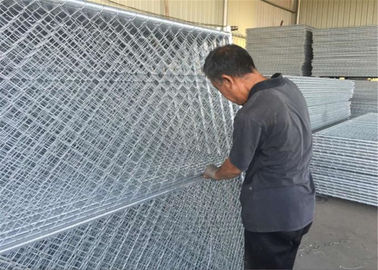 China HDG Easy chain link fence panels 8ft x 12ft spacing 2inch x 2inch x 12ga wire tubing 1.5 inch with 16 ga thickness factory