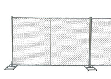 China 8ft x 10ft construction chain link fence opening 2⅜x2⅜(60mmx60mm)  tubing 16ga thick and diameter 11ga/2.90mm,11.5ga/2.7 factory