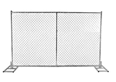 "China 8' x 14'Portable chain link construction fence Tubing 1⅝""(42mm)x 1.6mm Thick Cross barce Chain mesh 2¼""x2¼""(57mmx57mm) factory"