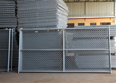 "China 6'x12' round tubing 1¼""(32mm) x 16 ga thick temporary chain link fence cross barce hdg 275 mesh spacing 2½""x2½"" 63mmx63 factory"