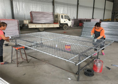 6ft x 10ft chain mesh temporary fencing panels ,construction fence panels frame OD 42mm and Mesh 60mm x 60mm x 2.7mm dia