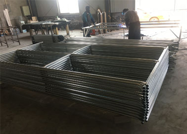 "8'x12' steel construction fence panels mesh spacing 2½""x2½""(63mmx63mm) x 12.5ga diameter tubing  1⅗""(40mm) 1⅝""(42mm) 1⅞"""