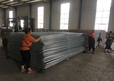 China 8 foot  x 10 foot chain wire temporary fence panels 2 -3/8 inch mesh x 11.5 ga wire chain link portable fence factory