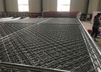 "China 6'x10',12' 8' x 10' x 12' steel pipes 1½""(38mm) 1⅗""(40mm) x 16ga thickness mesh 2¼""x2¼""(57mmx57mm) chain link fence factory"