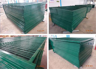 "8'H/2430mm*10'L/3048mm Canada standard construction fencing panels mesh 3""x6"" 75mm x 100mm Tubing 1.2""/30mmx1.5mm"