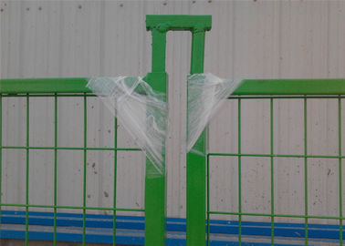 "Canada standard temporary construction fencing panels H 6'/1830mm*L 9'/2740mm Mesh  3""x6"" 75mm x 100mm Powder Coating"