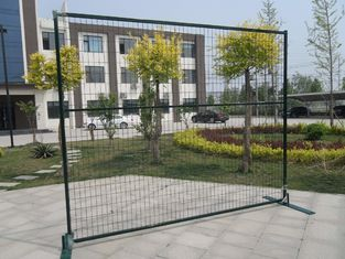 "China Canada Rental Temporary Construction Fence H 8'/2430mm*W9.5'/2900mm frame tubing 1""/25mm*16ga thick middle brace 3/4"" factory"