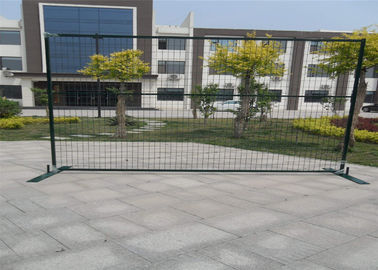"China Powder coated 6'/1830mmx10'/3048mm width construction temp fence panels mesh 2""x4""/50mmx100mm*11.5ga frame 40mm*40*1.5mm factory"