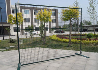 "Powder coated 6'/1830mmx10'/3048mm width construction temp fence panels mesh 2""x4""/50mmx100mm*11.5ga frame 40mm*40*1.5mm"