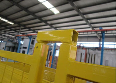 "China Height 8'/2430mm*10'/3048mm Width Weld mesh 2""*4""*9.5gauge wire Powder coated Yellow Outer frame 25mm*2.0mm factory"