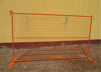 "China 6'x10' construction fence frame 1""/25mm x thickness 16ga mesh spacing ,4""x12""/100mmx300mm x 3.00mm diamcoated orange factory"