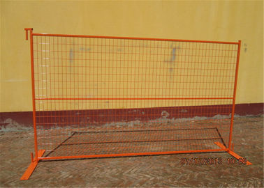 "6'x10' construction fence frame 1""/25mm x thickness 16ga mesh spacing ,4""x12""/100mmx300mm x 3.00mm diamcoated orange"