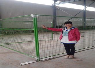 "China powder coated weld wire canada temporary removable fencing panels 8'x9.5' height tubing 1"" profile x 16ga thick factory"