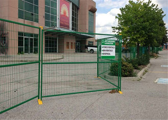 "8' Height x 10' Width Canada standard Temporary Construction Fencing Panels Tubing 1.6""/40mm Brace 1""/25mm"
