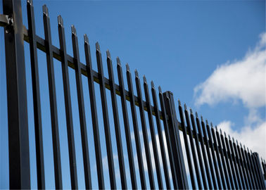 Australia Black Heavy Duty Tubular Steel Garrison Fence