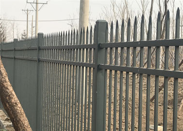 China garrison Fence Steel Tubular 2100mm x 2400mm spear 25mm x 25mm factory
