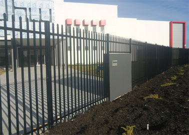 China Powder coated tubular steel fence factory