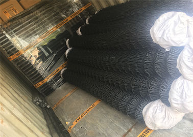 "China 9 gauge 0.148"" *3.76 mm mesh aperture 57mm*57mm chain mesh fabric 3.5'x25' roll size factory"
