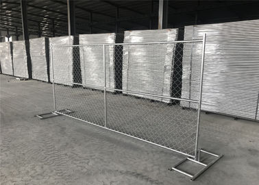 "China 6X12 temporary chain link fence panels tube 1⅝""(42mm) x14ga 2.0mm mesh 60.3mmx60.3mm factory"