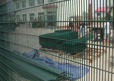 China Green Color PVC Coated Welded Wire Mesh Panels/PVC Coated Prison 358 Security Fencing export to malaysia , factory