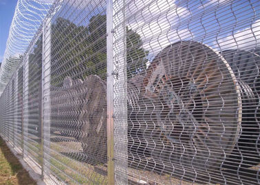 China 358 Prison Mesh Fencing, Anti Cut, Anti Climb, 12mm x 75mm mesh opening, Available Any Color factory