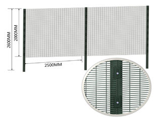 Anti-Climb Fence 4mm Wire High Security Clear Vu Fence