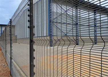 "China Prison Powder coated high security wire mesh fence panel 3""x0.5"" x 8ga wire factory"