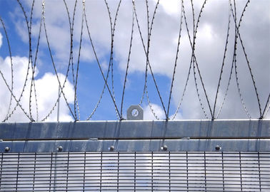 High Security Wire Fence with Wall Spikes On the top of 358 clearvu fencing panels