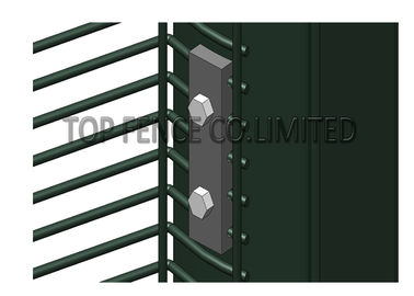 China high security fence panels, pvc coated clearvu no climb fence factory