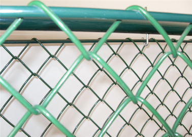 "hot dipped galvanized chain wire mesh fence  2"" x 2"" mesh opening"
