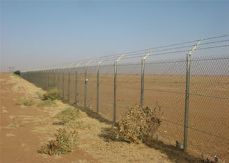 China Chain link wire mesh fence 2m x 15m per roll mesh :50mm x 50mm PVC Coated Hot Dipped Galvanized factory