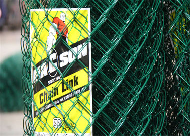 Factory Supply Galvanized and PVC Coated Golf Boundary Chain Link Fence Cyclone Fence