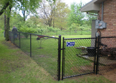 green wire mesh/hurricane fence PVC PE coated Chain Wire Hurricane Fence