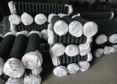 Woven Chain Link Fencing PVC Coated Iron Wire Mesh , 18#-7# Wire Dia