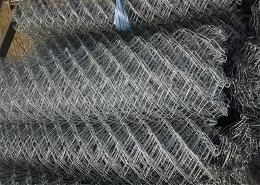 "1"" 2"" Flexible Plastic Coated Chain Link Fencing For Hillside Protection"