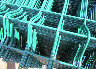 China 2030mm x 2500mm Wire Fence Panels High Quality With V beams ,RAL 6005 coated Dark Green factory